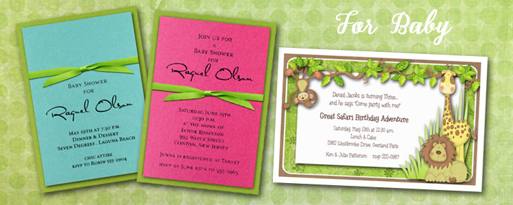 Birth Announcements and Baby Shower Invitations – Elegant Birth Announcements