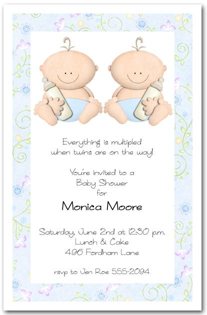 babycakes twin boy baby shower invitations, Baby shower invitations