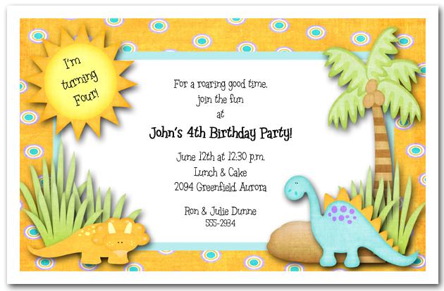 Dinosaur Wedding Invitations: Dinosaurs Rule Party Invitations, Birthday Invitations
