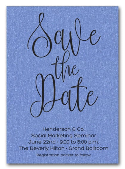 Blue Business Save the Date