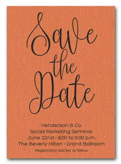 Orange Business Save the Date