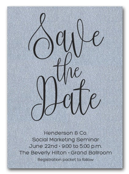 Silver Business Save the Date