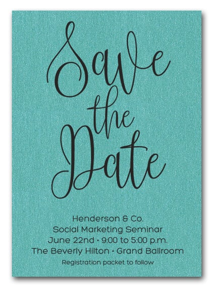 Turquoise Business Save the Date