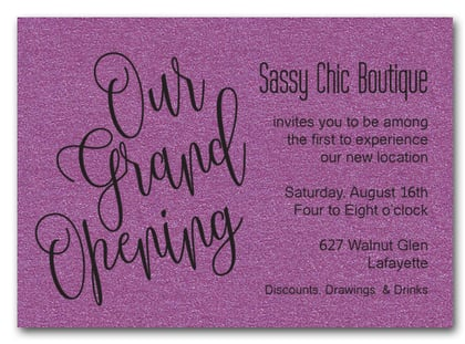 Purple Sparkle Grand Opening