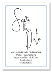 Brisk Blue Border Business Save the Date
