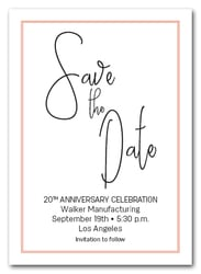 Brisk Orange Border Business Save the Date