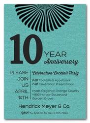 Business Anniversary Invitations Corporate Anniversary