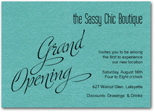 Teal Sparkle Grand Opening