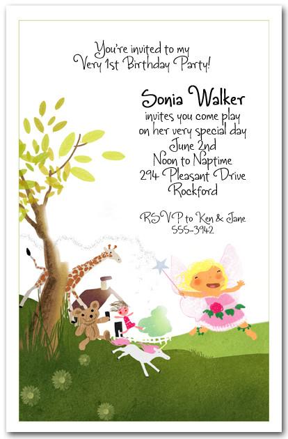 Fairy Dance Party Invitation Girls Birthday Invitations – Fairy Birthday Party Invitation Wording