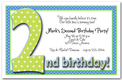 Green & Blue Dots 2nd Birthday