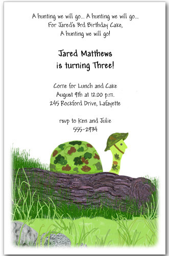 Turtle Invitation Birthday Party Invitations