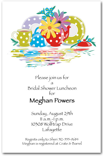 Polka Dot Tea Party Invitations