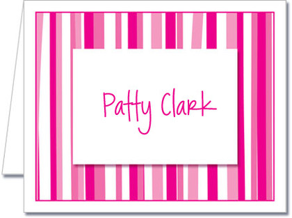 Note Cards: Mod Stripe Hot Pink