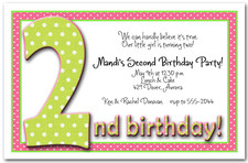 Green & Pink Dots 2nd Birthday