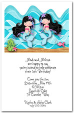 Twin Mermaids Black Hair