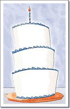 Tall Cake Blue-1st