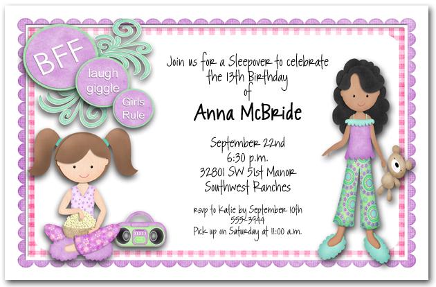 Slumber Party Invitation Ideas with perfect invitations ideas
