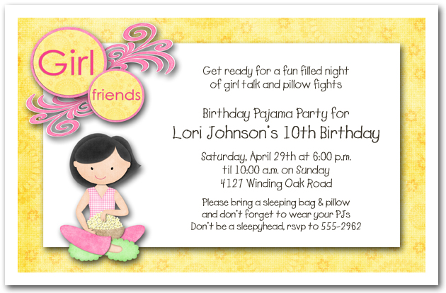 Girls Birthday Party Invitations – Girl Photo Birthday Invitations