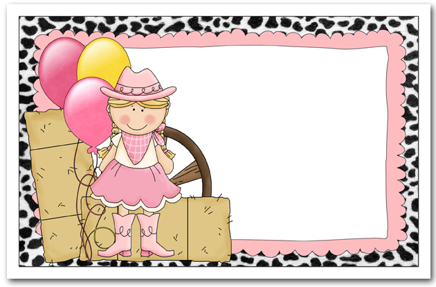children's western birthday invitations, cowboy invitations, Party invitations