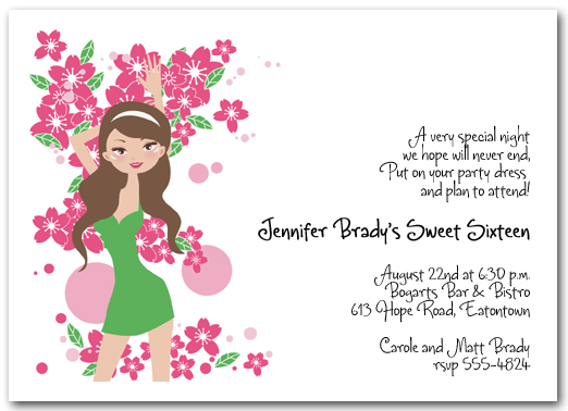 teenage birthday party invitations, Birthday invitations