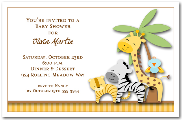 Kids Animal Themed Birthday Party Invitations – Zoo Themed Birthday Invitations