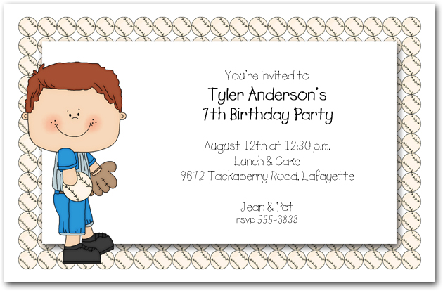 Boys Baseball Time Party Invitations, Baseball Invitations