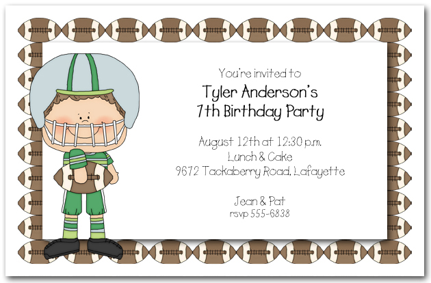 Boys Football Time Party Invitations Football Invitations – Football Party Invites