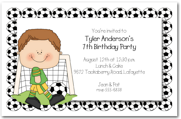 Boys Soccer Time Party Invitations Soccer Invitations