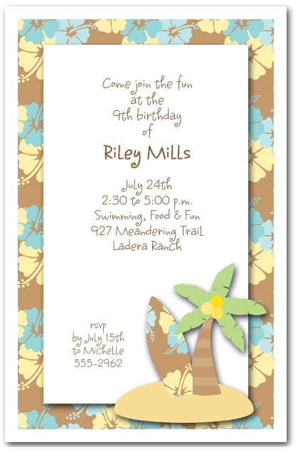 Surf S Up Invitations Beach Party Invitations
