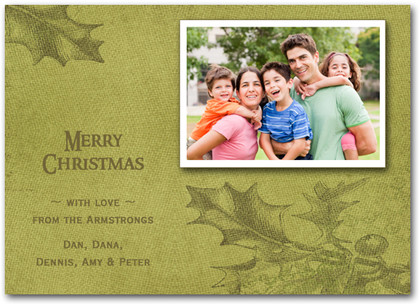 Holly Fabric Greetings