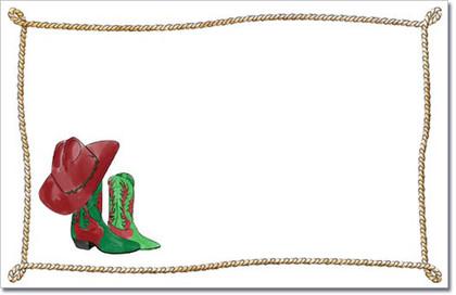 Cowboy Christmas Invitation Western Holiday Invitations At