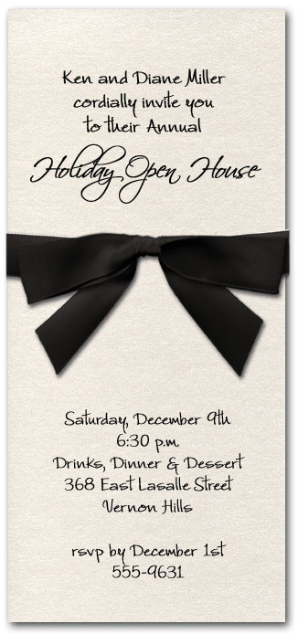 Shimmery White Invitation & Black