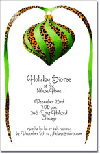 Green & Leopard Ornament