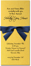 Shimmery Gold Invitation & Navy