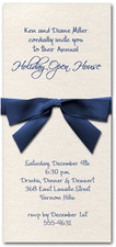 Shimmery White Invitation & Navy