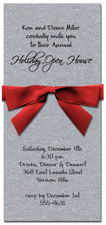 Shimmery Silver Invitation & Red