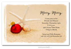 Starfish Beach Holiday Party Invitations