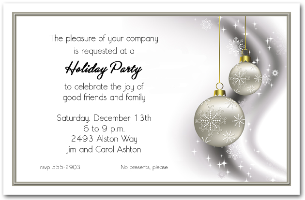 Business Christmas Party invitations Corporate Holiday – Business Holiday Party Invitations