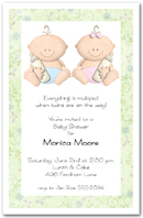 Babycakes Twin Girl and Boy Baby Shower Invitation