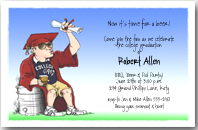 College Grad Keg Party Invitation