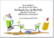 Dancing Margarita Party Invitation, Cinco de Mayo Invitation