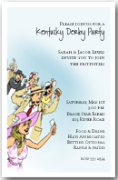 Horse Racing Crowd Party Invitation