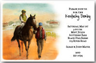 Into the Gate Horse Racing Party Invitation