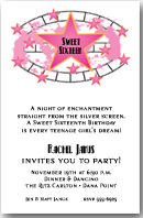 Pink Stars and Filmstrip Invitations