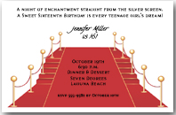 Red Carpet and Stairs Invitations