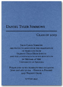 Shimmery Blue Graduation Party Invitation with matching envelopes