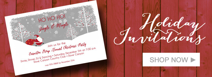 Holiday Invitations & Christmas Invitations
