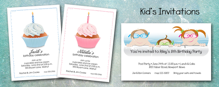 Children & Kids Birthday Invitations
