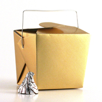 Shop Chinese Takeout Favor Boxes - Plain, Gloss and Metallic Papers