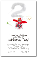 Soaring Red Plane Party Invitation